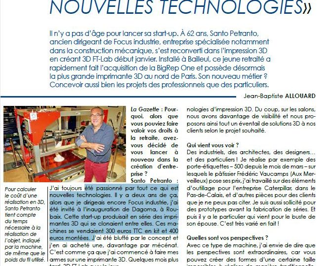 La Gazette – 3DFT LAB
