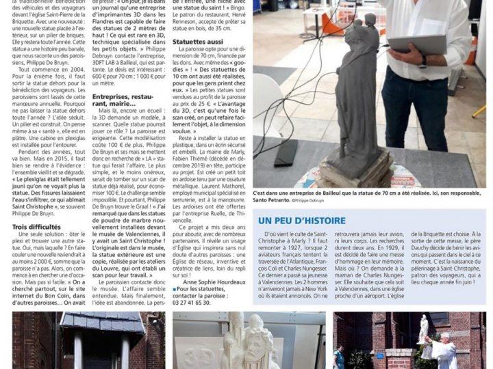 Croix du Nord – Une statue imprimée en 3D à Marly !